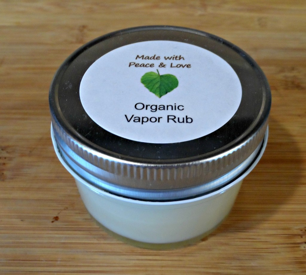 Homemade Organic Vapor Rub