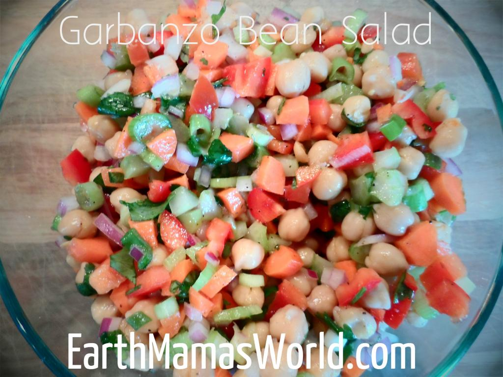 garbanzo bean salad:  EarthMamasWorld