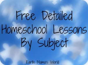 Free Detailed List of Homeschool Lessons by Subject