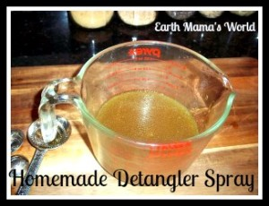 Homemade Herbal Detangler Spray