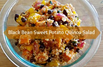 Black Bean Sweet Potato Quinoa Salad